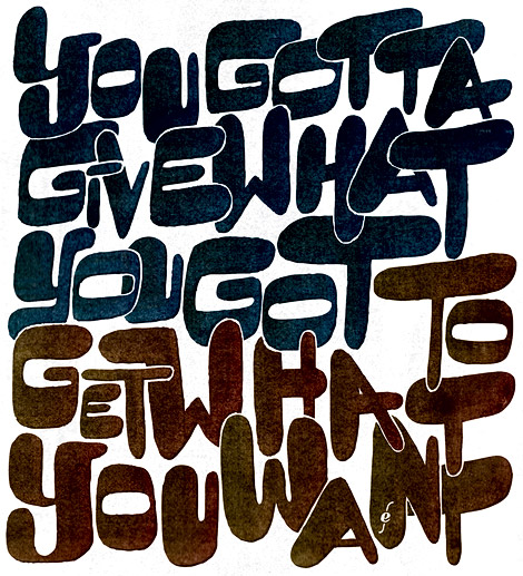 yggwygtgwyw, typography Based on a quote by James Brown, illustration by Enkeling