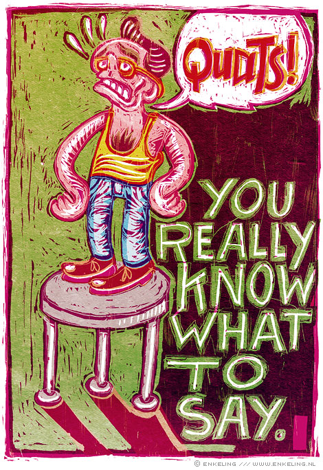 You Really Know, drawing, typografie, enkeling, 2009